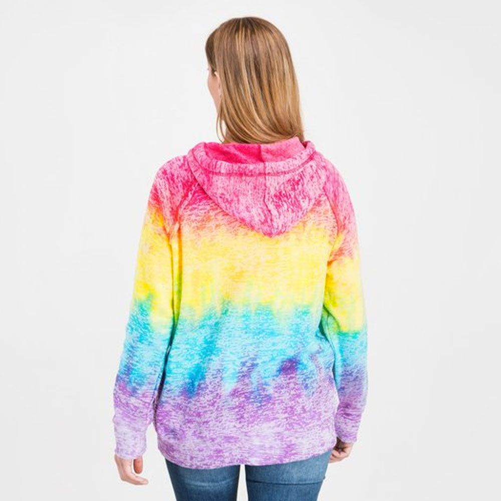 """Michigan Made With Love"" Women's Tie Dye Fashion Hoodie"