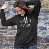 """Nauti Girl"" Boyfriend Angel Fleece Hoodie"