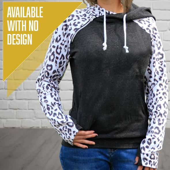 """Livn Simply"" Women's Side Zip Fashion Leopard Hoodie"