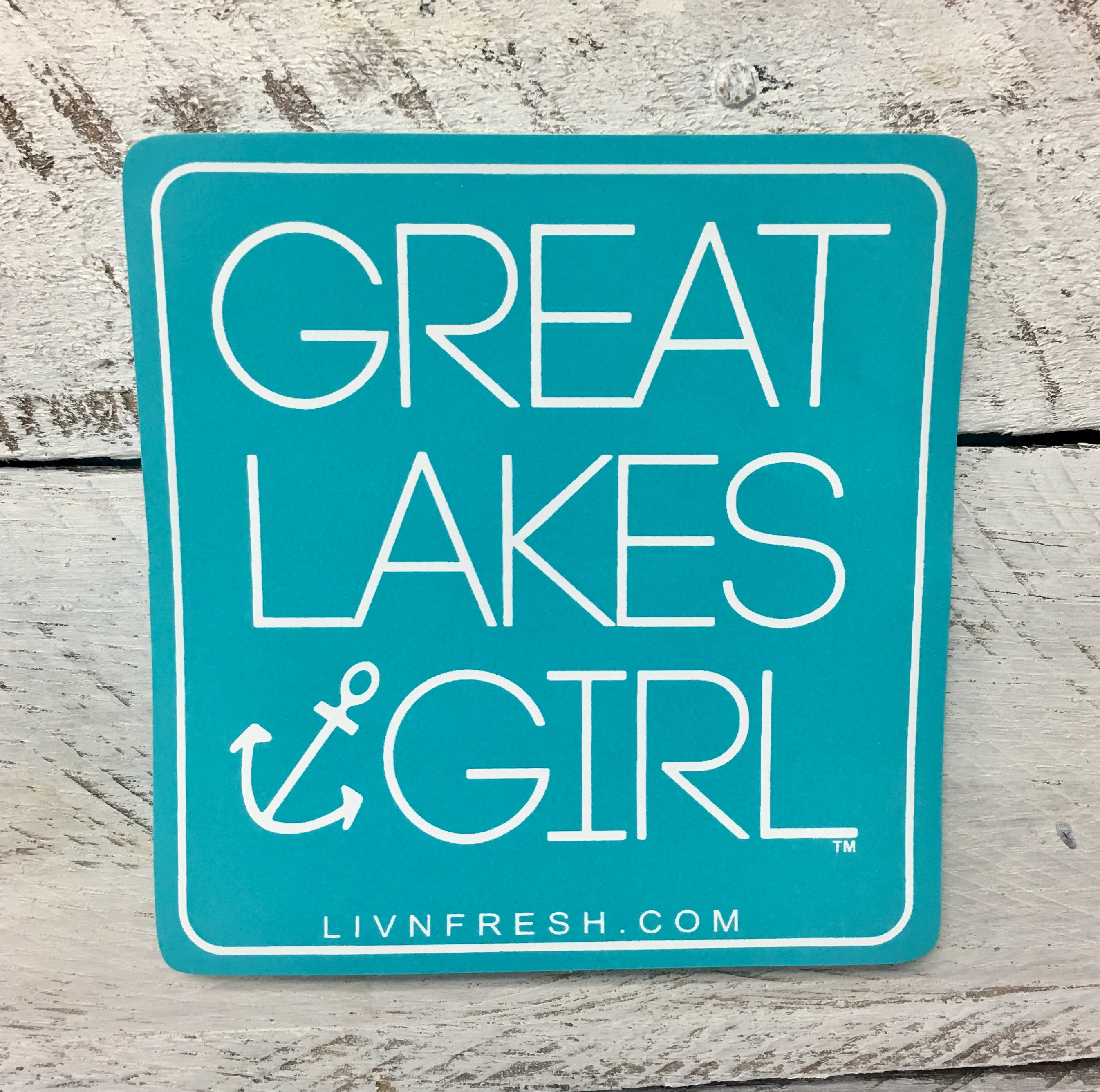 Great Lakes Girl Decal