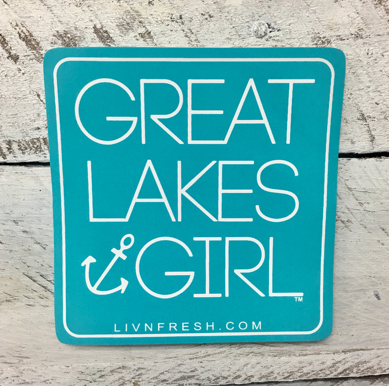 """Great Lakes Girl"" Decal"