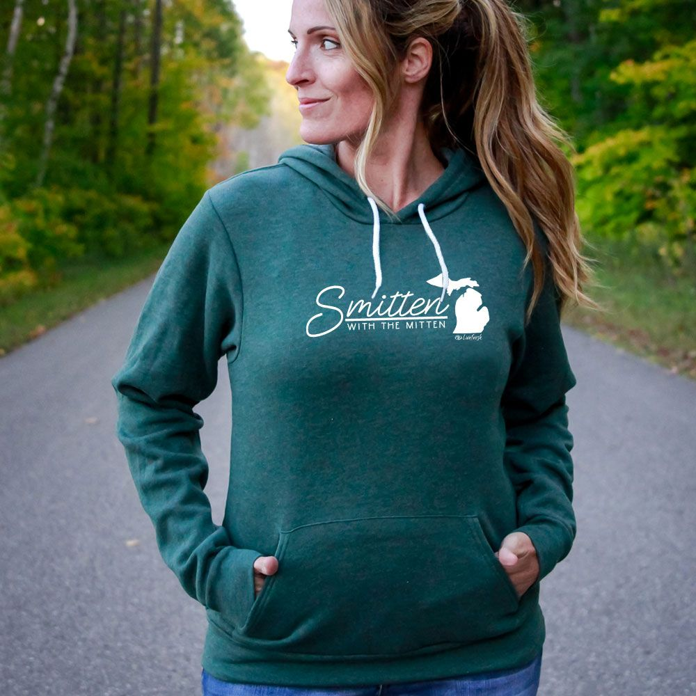 """Smitten With The Mitten"" Boyfriend Angel Fleece Hoodie"