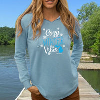 """Michigan Cozy Winter Vibes"" Women's Ultra Soft Wave Wash Hoodie"