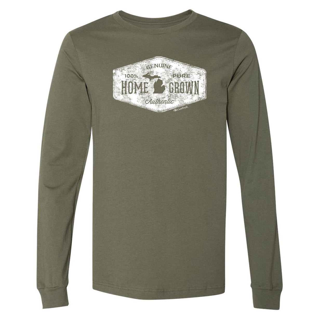 """Michigan Home Grown"" Men's Long Sleeve T-Shirt"