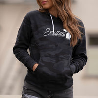 """Smitten With The Mitten"" Women's Boyfriend Camo Hoodie"