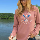 Michigan River Life  Women's Ultra Soft Wavewash Hoodie