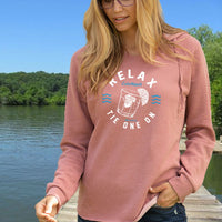 """Tie One On"" Women's Ultra Soft Wave Wash Hoodie"