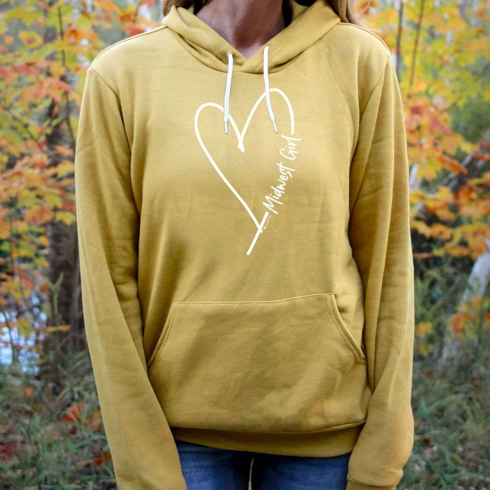 """Midwest Girl"" Boyfriend Angel Fleece Hoodie"