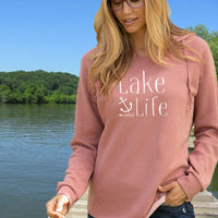 """NEW Lake Life Anchor"" Women's Ultra Soft Wave Wash Hoodie"