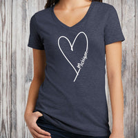 """Michigan Made With Love"" Women's V-Neck"