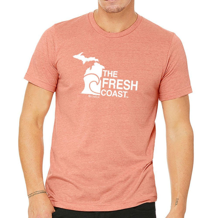 """Michigan Fresh Coast"" Men's Crew T-Shirt"