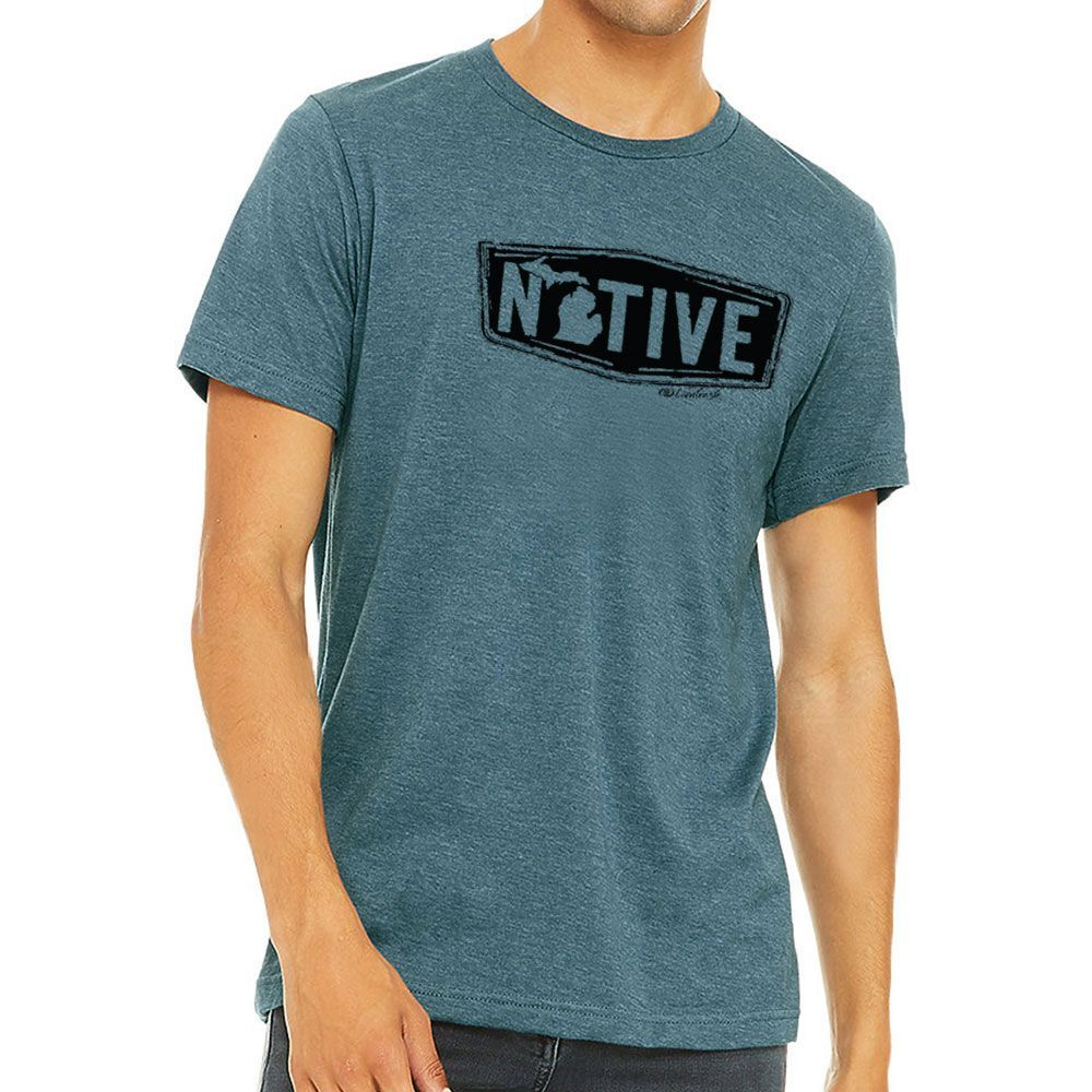 """Michigan Native"" Men's Crew T-Shirt"