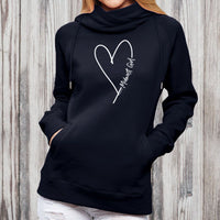 """Midwest Girl"" Women's Fleece Funnel Neck Pullover Hoodie"