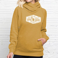 """Michigan Home Grown"" Women's Fleece Funnel Neck Pullover Hoodie"