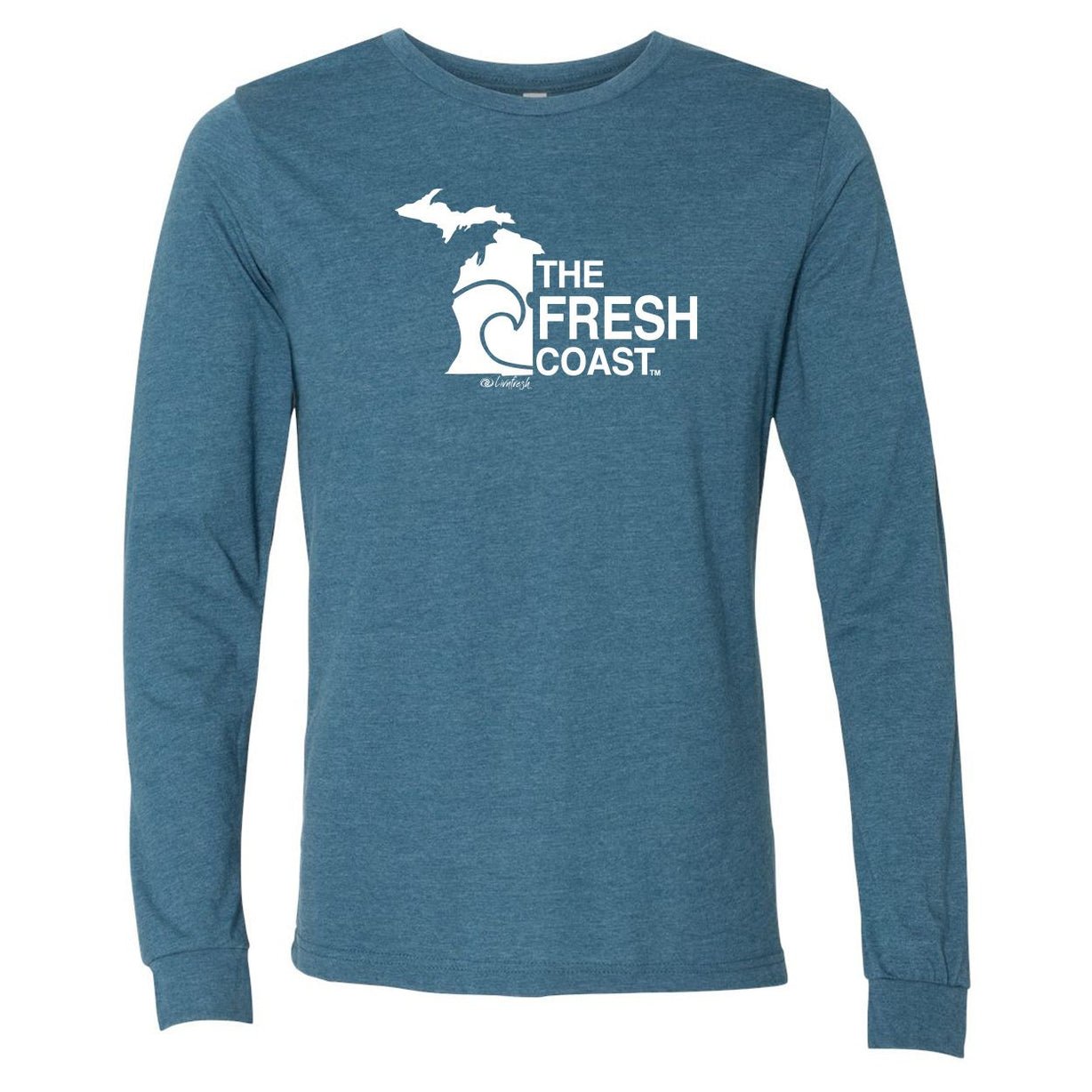 """Michigan Fresh Coast"" Men's Long Sleeve T-Shirt"