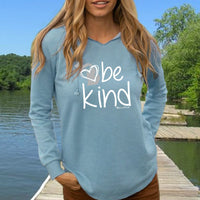 """Michigan Be Kind"" Women's Ultra Soft Wave Wash Hoodie"