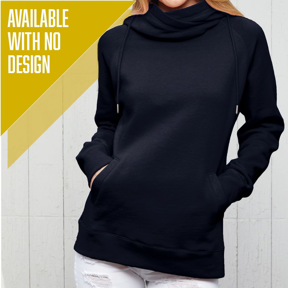 """Livn Simply"" Women's Fleece Funnel Neck Pullover Hoodie"