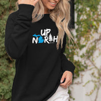 """Up North Michigan Woods"" Women's Ultra Soft Wave Wash Crew Sweatshirt"