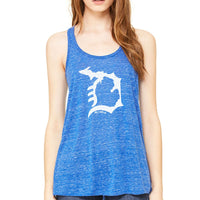 """Michigan D"" Women's Flowy Tank Top"