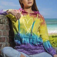 Be Kind With Love Women's Tie Dye Fashion Hoodie