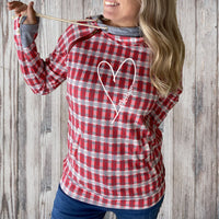 """Michigan Made With Love"" Women's Plaid Fashion Double Hood"