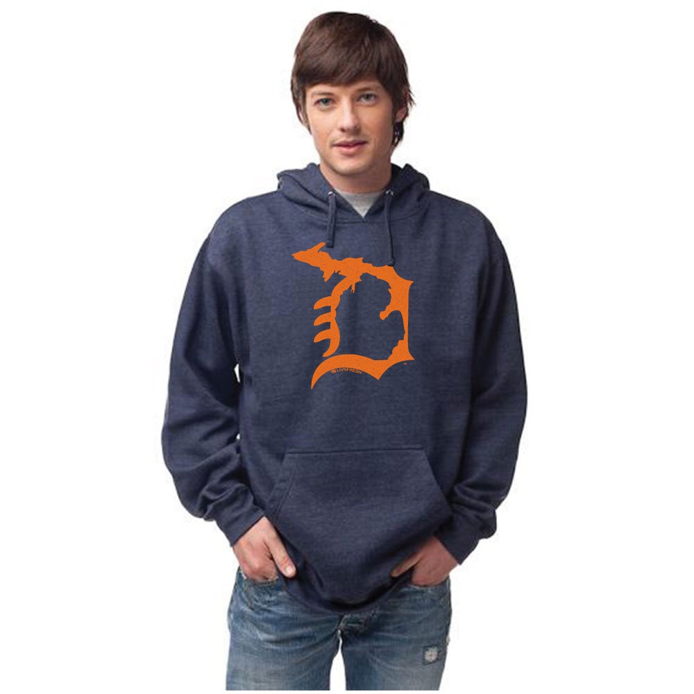 Michigan D Men's Basic Hoodie