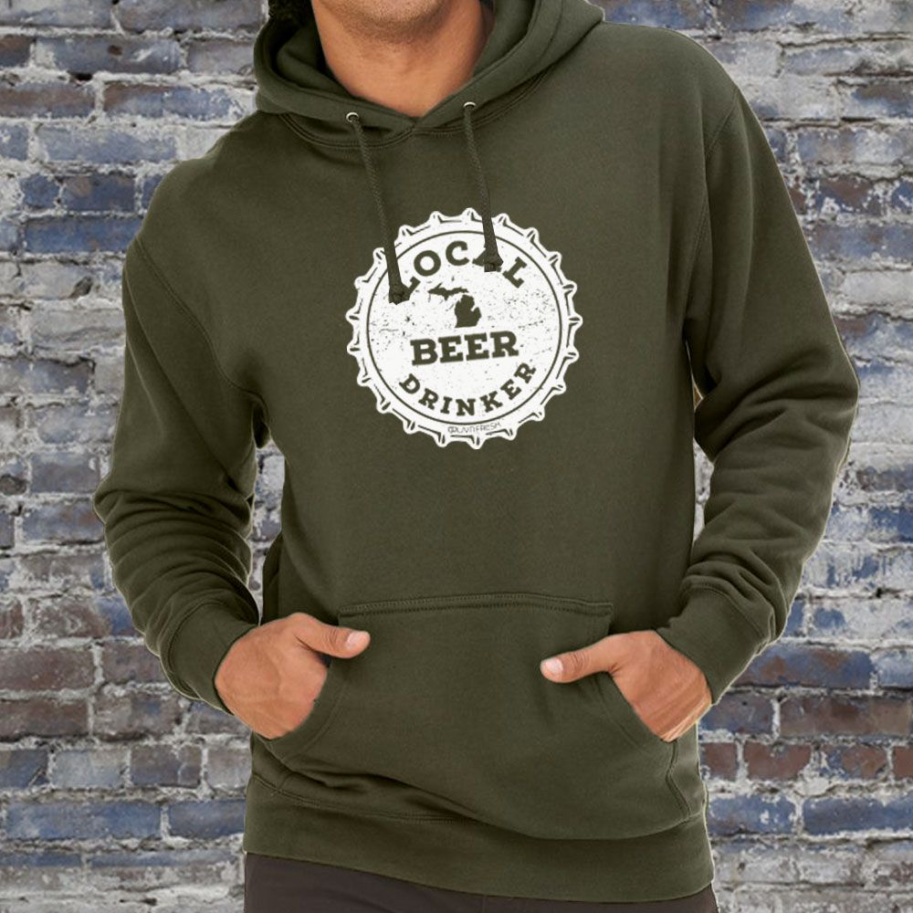 """Michigan Drink Local"" Men's Hoodie"
