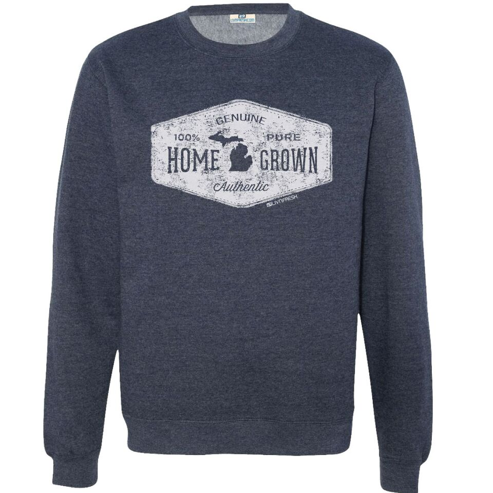 Michigan Home Grown Men's Crew Sweatshirt