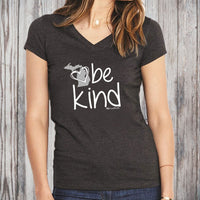 """Michigan Be Kind"" Women's V-Neck"