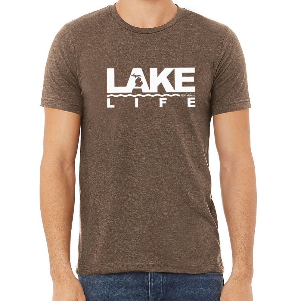 """Michigan Lake Life"" Men's Crew T-Shirt"