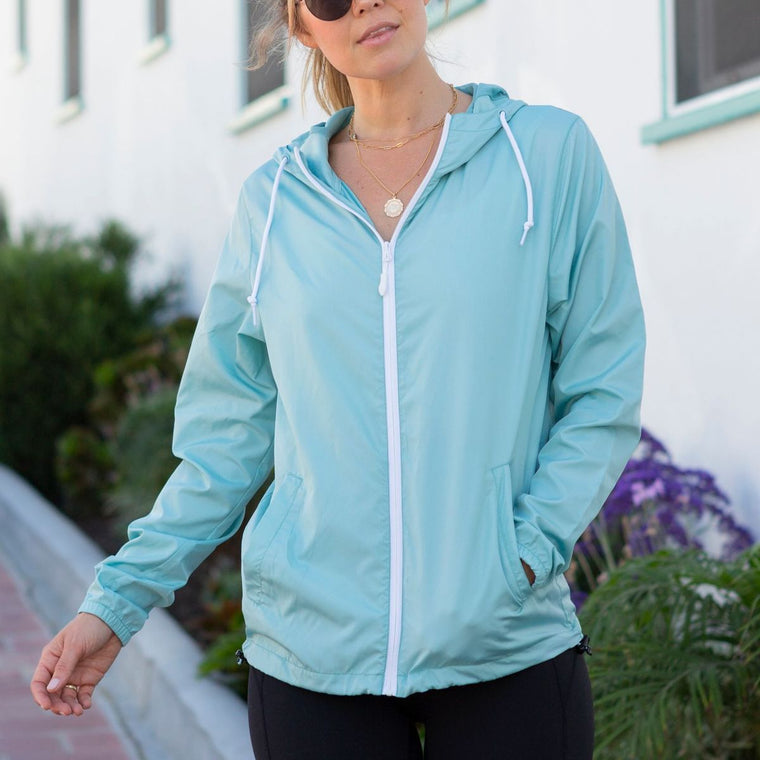 """Livn Simply"" Women's Lightweight Full-Zip Windbreaker Jacket"