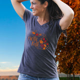 Michigan Fall Women's V-Neck