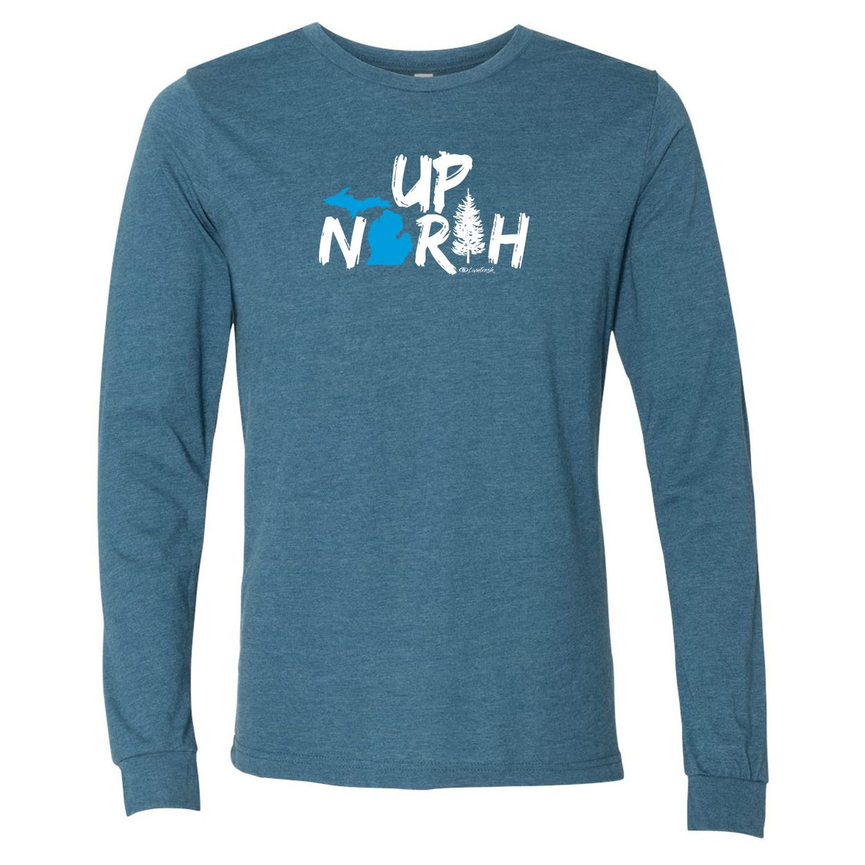 """Up North Michigan Woods"" Men's Long Sleeve T-Shirt"