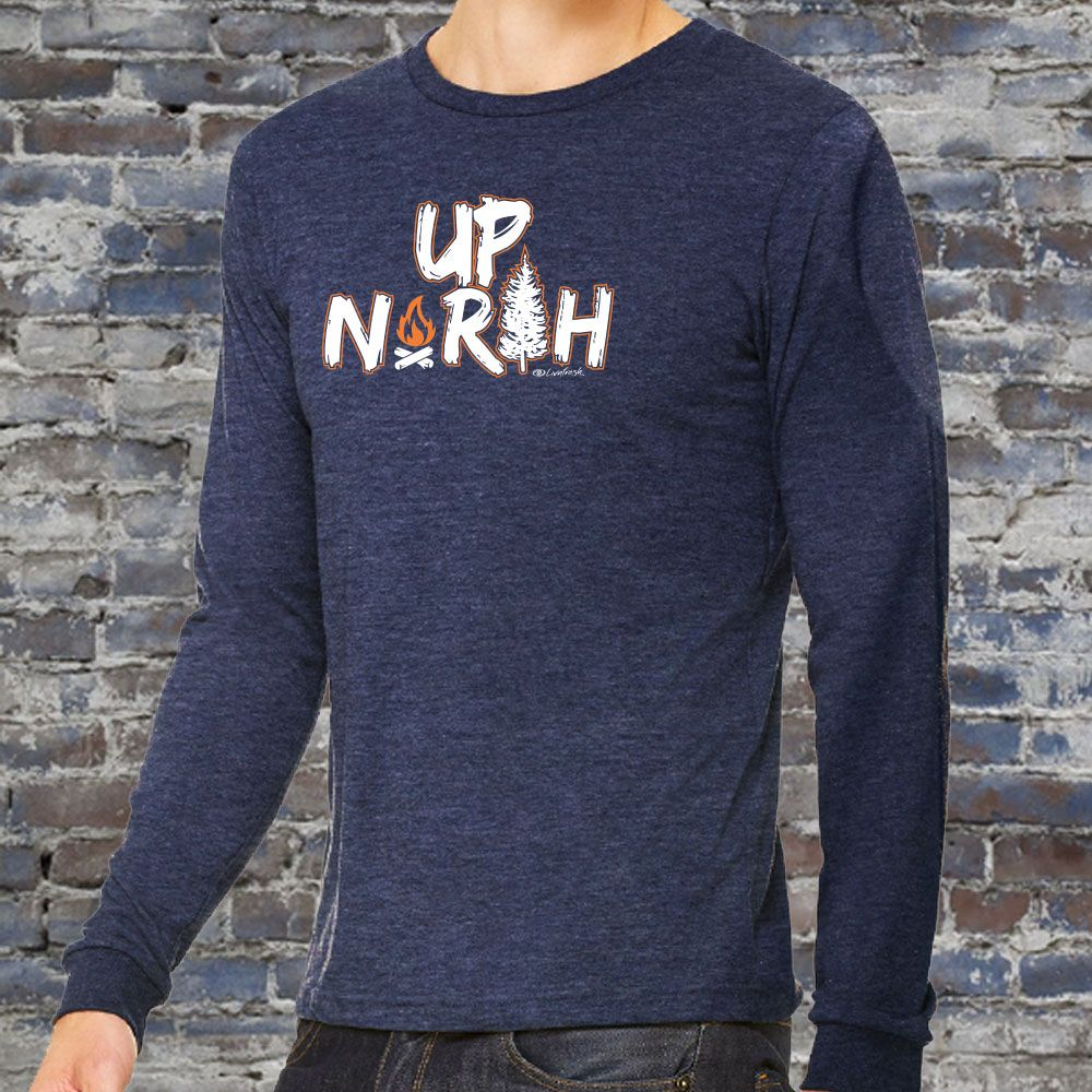 """Campfire Up North"" Men's Long Sleeve T-Shirt"