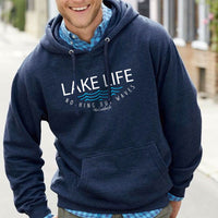 """Lake Life WAVES"" Men's Hoodie"