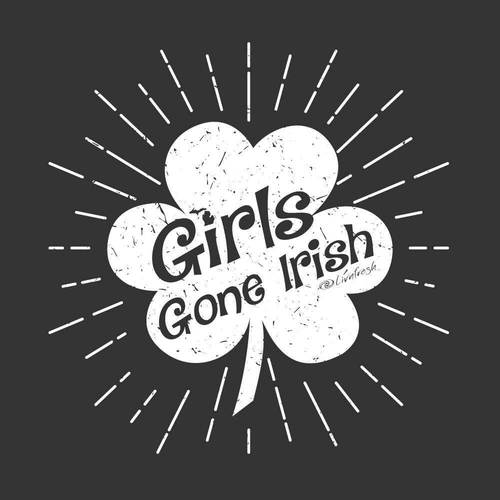 """Girls Gone Irish"" Women's Striped Chalk Terry Pullover"