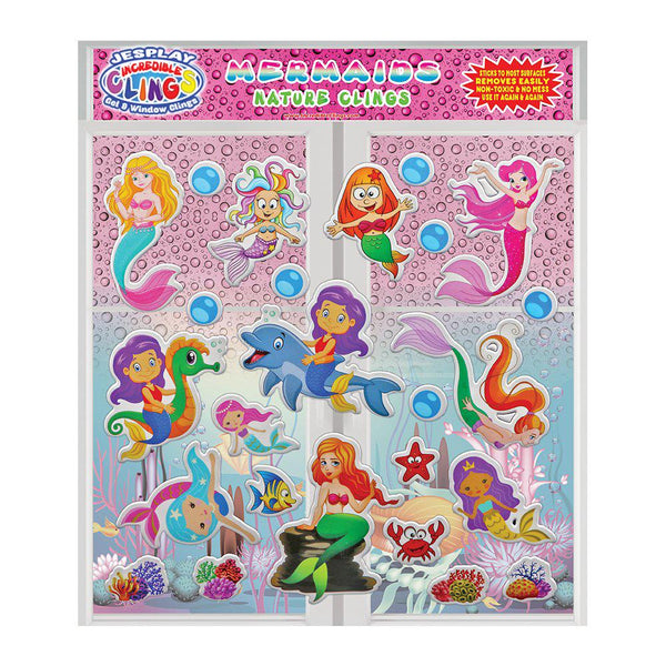 Mermaids- Puffy Sticker Clings -26 Pieces
