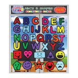 ABCs and Shapes Gel Clings for Kids & Toddlers - Educational Window Cling Decorations - 36 Pieces