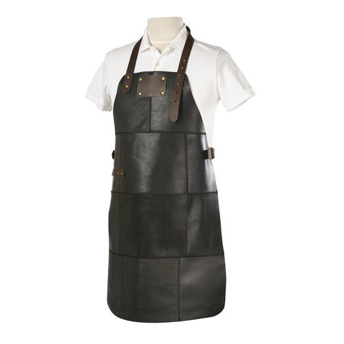 Grill Master Leather Work Apron - Black