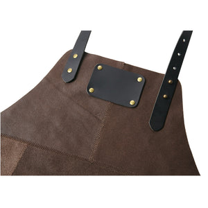 Grill Master Leather Work Apron - Brown