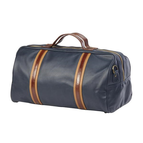 Racer Leather Round Duffel - Sonoma Navy