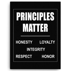 Principles Matter Canvas Wall Art