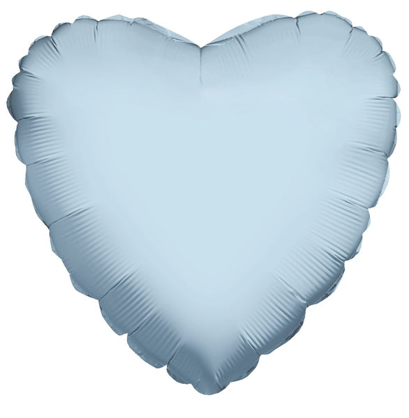 Pastel Blue Pearlized Heart