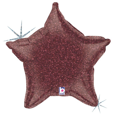 Burgundy Holographic Star