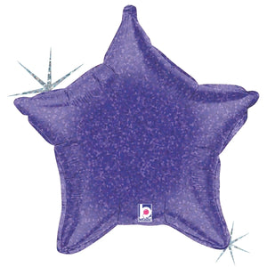Purple Holographic Star