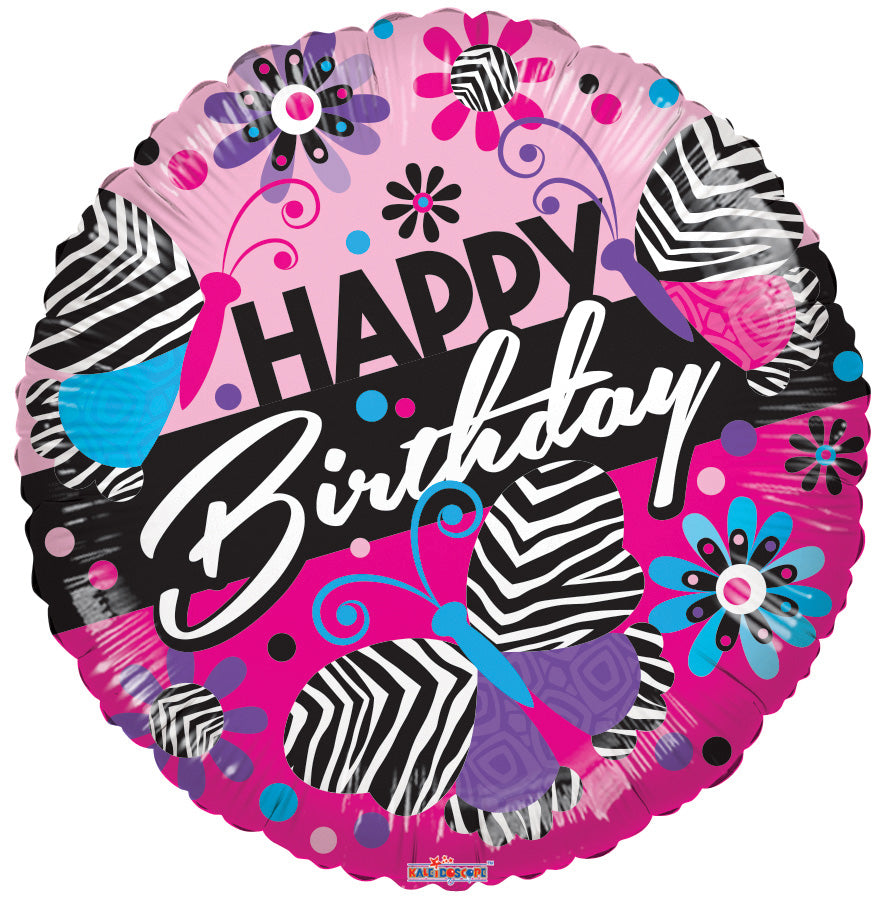 Zebra Pattern Birthday