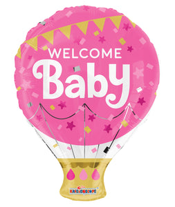 Welcome Baby Pink Shape