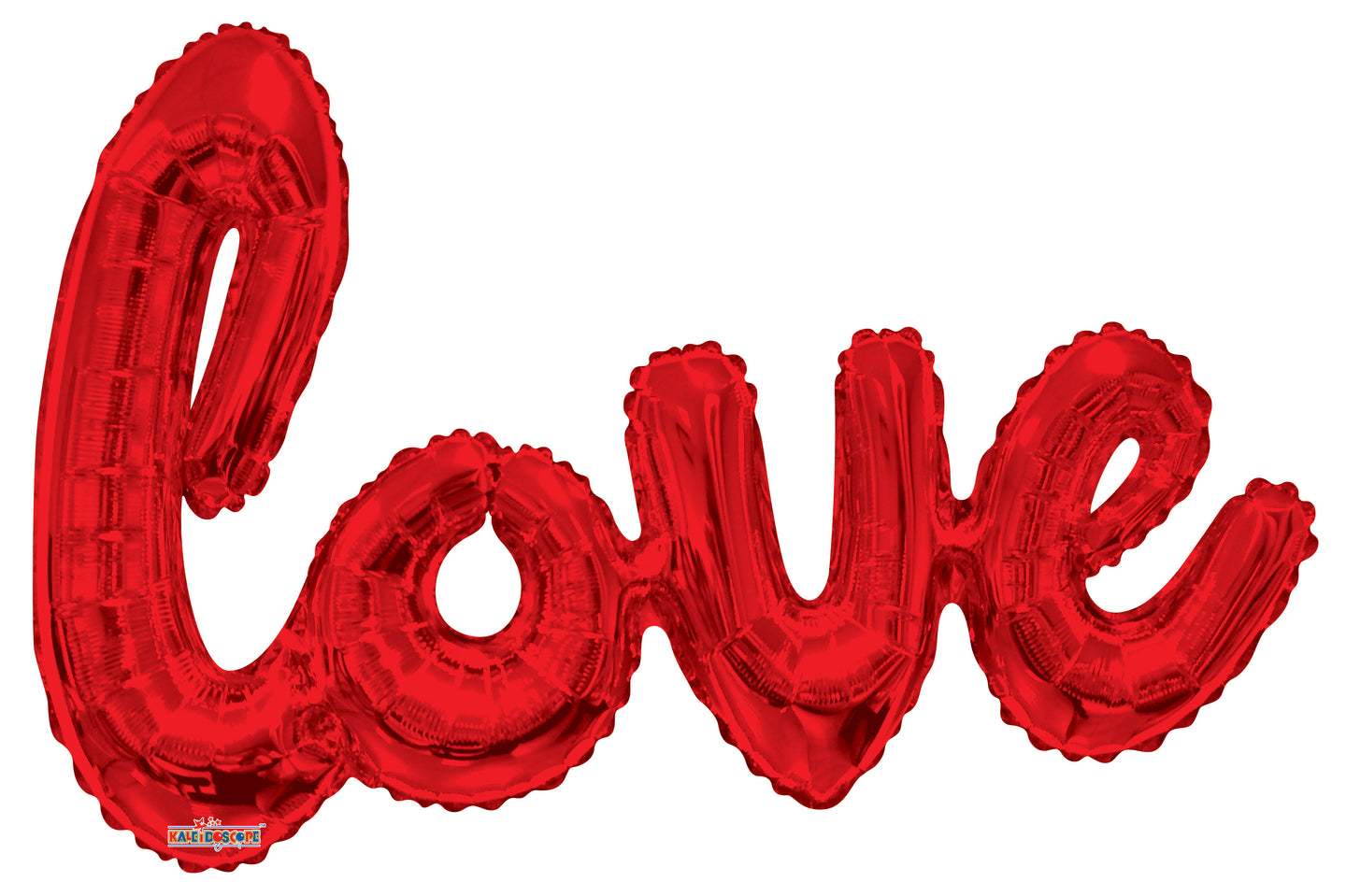 Red Love Script Shape