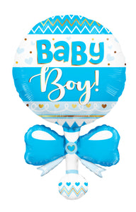 Baby Rattle Blue Shape