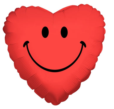 Smiley Heart - Red